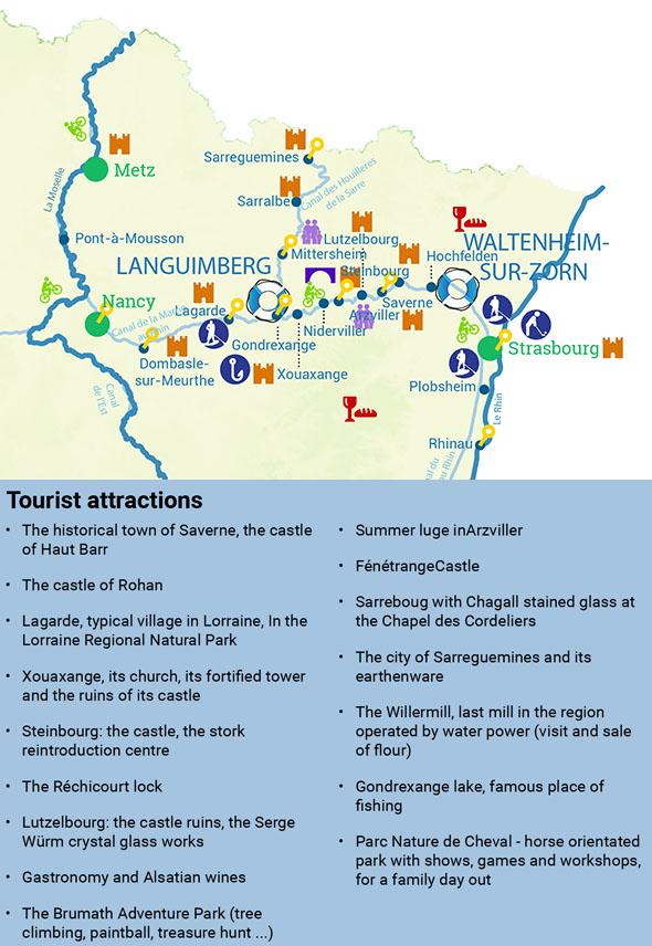 Attraits touristiques en Alsace